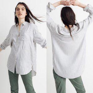 Madewell Tunic Shirt in Dalton Stripe 2X